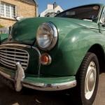 Morris Minor 1000 green woody