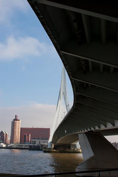 Onderzijde Erasmusbrug